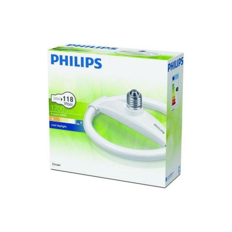 Philips Circular Simit Ampul 24W Beyaz Işık E27 Normal Duy
